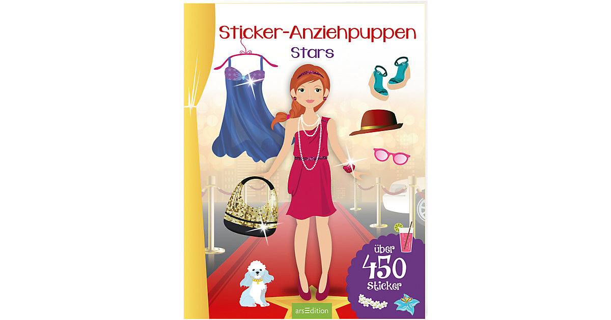 Sticker-Anziehpuppen: Stars