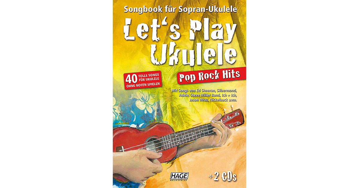 Let´s Play Ukulele Pop Rock Hits, mit 2 Audio-CDs