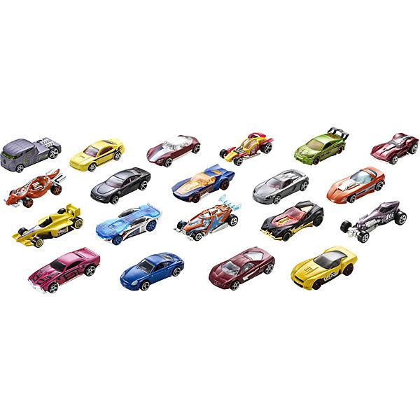Набор базовых машинок Hot Wheels, 20 штук