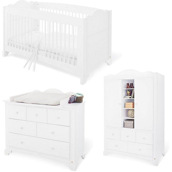 Komplett Kinderzimmer PINO, (Kinderbett, Wickelkommode und ...