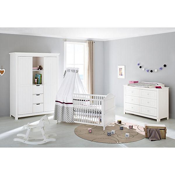 Komplett Kinderzimmer NINA extrabreit/groß, 3-tlg., Fichte weiß ... | {Kinderzimmer weiß 67}