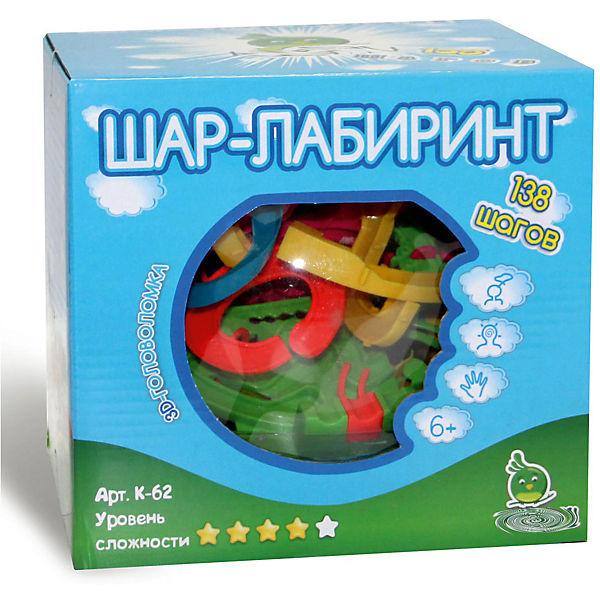 """Головоломка """"Шар-лабиринт 138 шагов"""", диам. 19"""