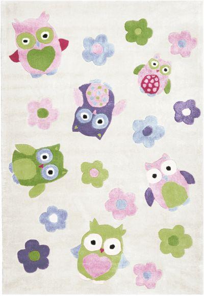 Kinderteppich eule  Kinderteppich Eule, rosa, 170 x 120 cm, Relita | myToys