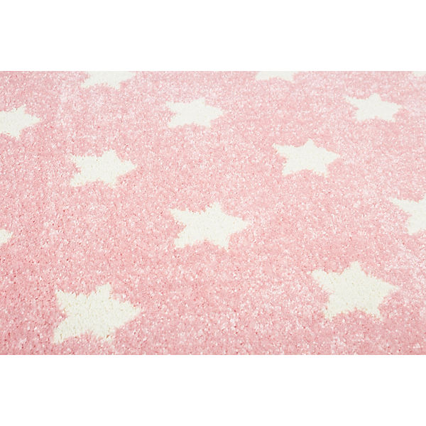 teppich litlle stars rosa wei happy rugs mytoys. Black Bedroom Furniture Sets. Home Design Ideas