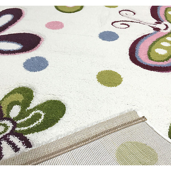 teppich schmetterling beige pastell happy rugs mytoys. Black Bedroom Furniture Sets. Home Design Ideas