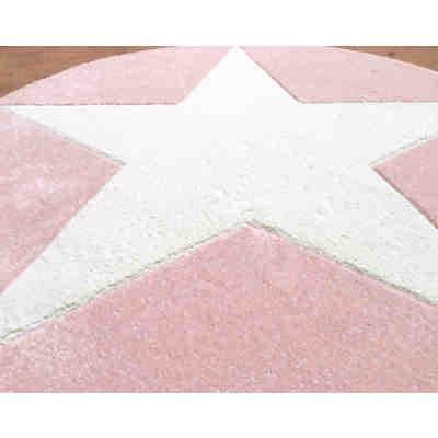 teppich star silbergrau wei 160 cm rund happy rugs. Black Bedroom Furniture Sets. Home Design Ideas