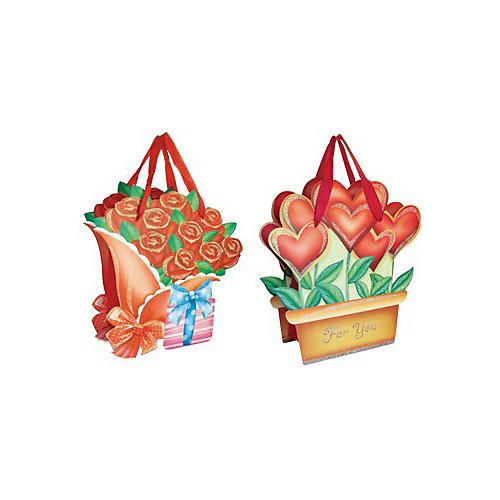 """Подарочный пакет """"Цветы"""" 15*17,8*8,5 см от Marko Ferenzo"""