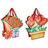 """Подарочный пакет """"Цветы"""" 15*17,8*8,5 см"""