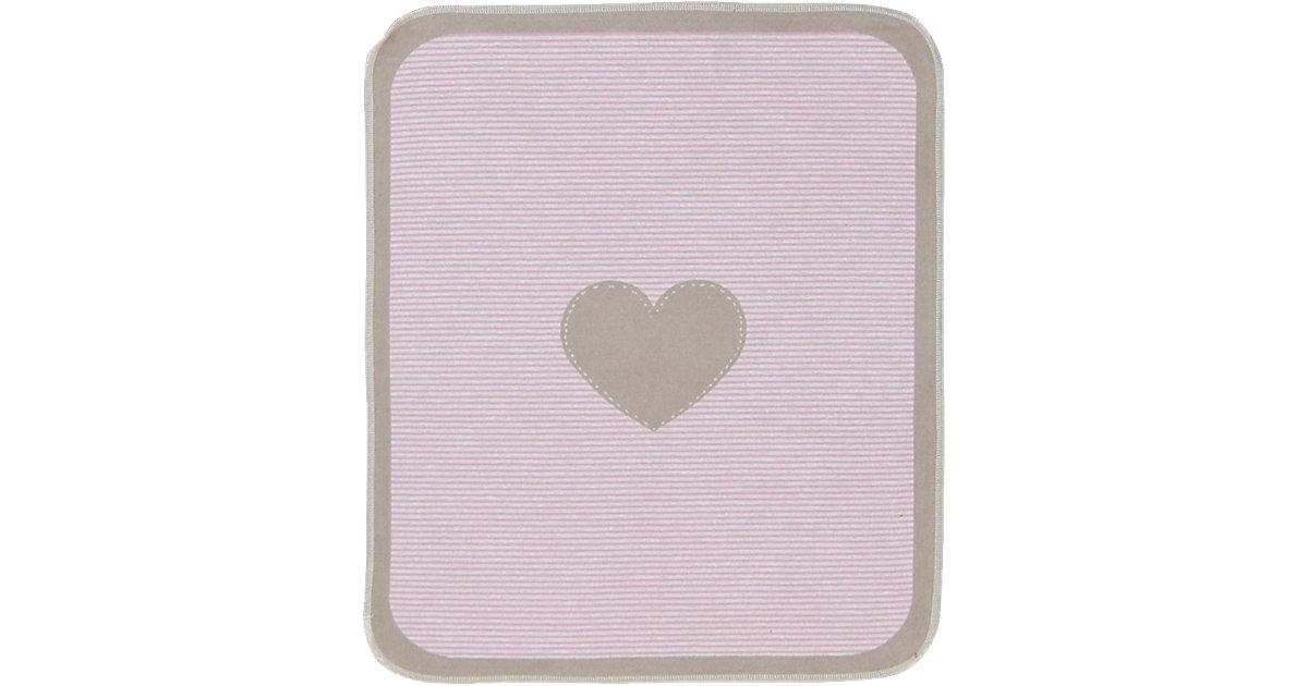 Babydecke Juwel Herzchen, pink, 70 x 90 cm