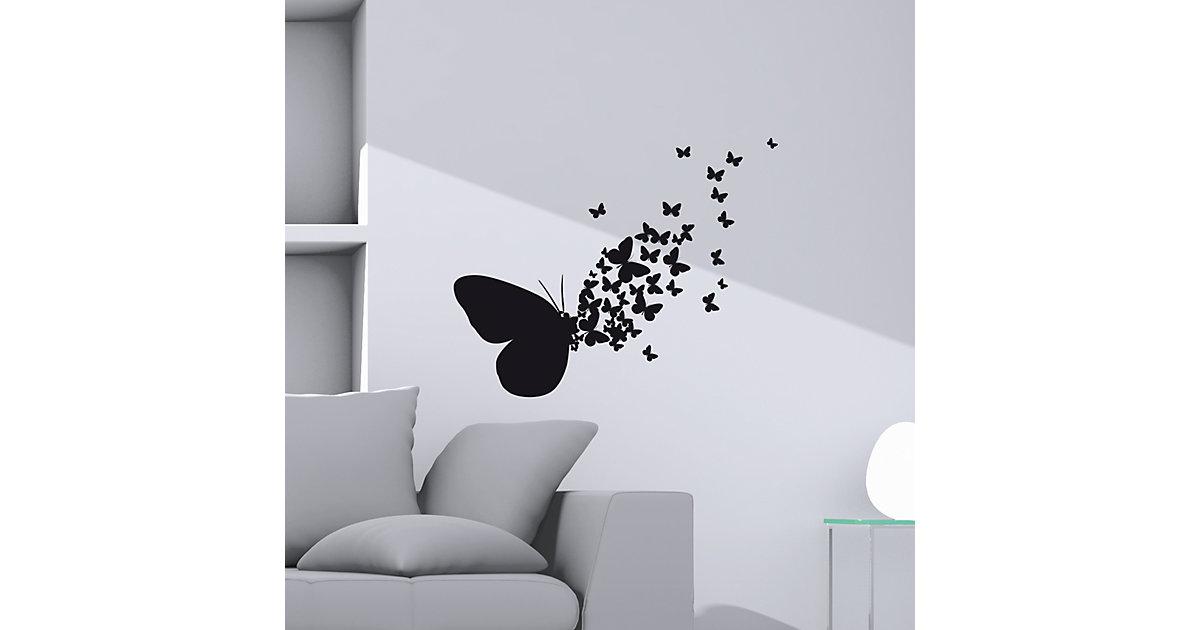 Wandsticker Schmetterling schwarz   Dekoration > Wandtattoos > Wandtattoos