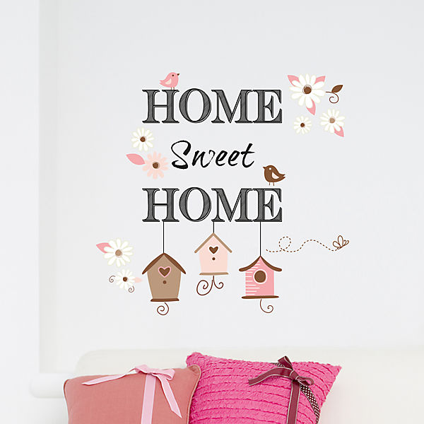 wandsticker home sweet home mytoys. Black Bedroom Furniture Sets. Home Design Ideas
