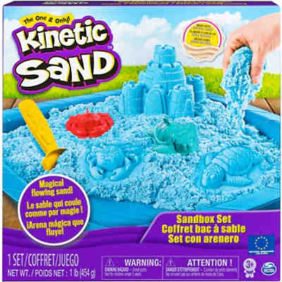 Kinetic Sand Box Set, blau