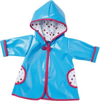 Puppenkleidung Regenmantel blau, Gr. 43