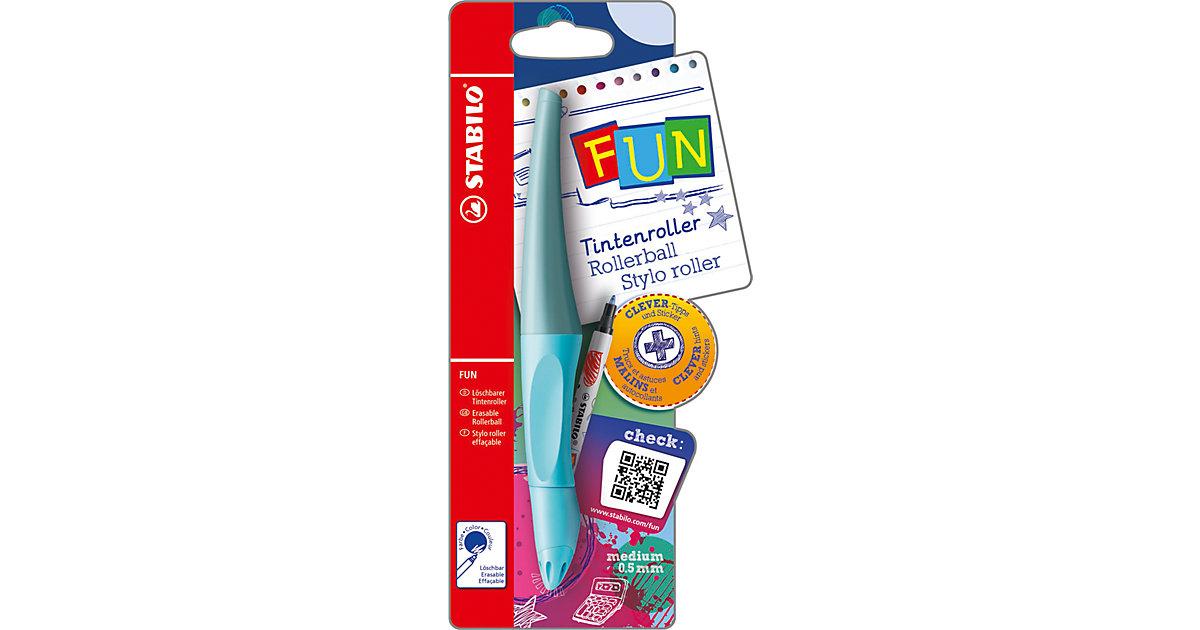 Tintenroller FUN babyblau/eisblau mit Sticker