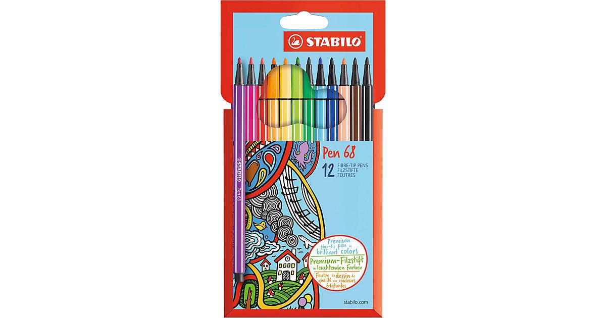 Filzstifte Pen 68, 12 Farben