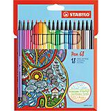 """Фломастеры Stabilo """"Pen"""", 18 цветов"""