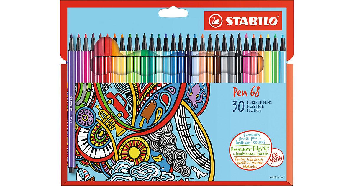 Filzstifte Pen 68, 30 Farben