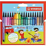 "Фломастеры Stabilo ""Pen mini"", 18 цветов"