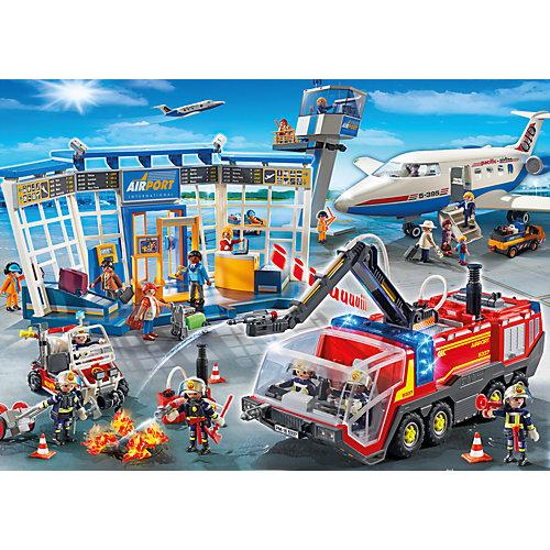 """Конструктор Playmobil """"Городской Аэропорт"""" Буксир самолета с наземной командой от PLAYMOBIL®"""