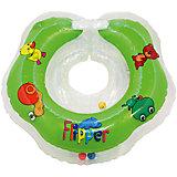Круг на шею Flipper FL001 для купания малышей 0+, Roxy-Kids, зеленый
