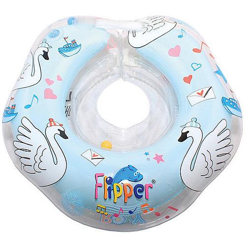 """Круг на шею Flipper Swan Lake Мusic для купания 0+ """"Лебединое озеро"""", Roxy-Kids, голубой от Roxy-Kids"""
