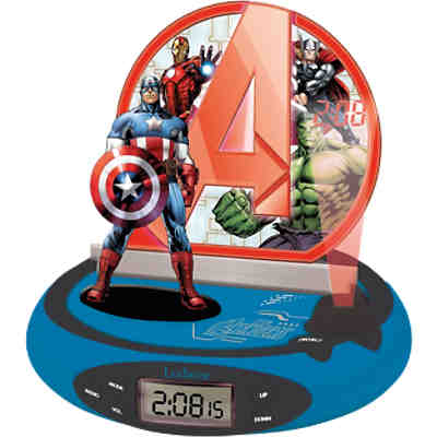 marvel avenger radiowecker mit projektion und nachtlicht marvel avengers mytoys. Black Bedroom Furniture Sets. Home Design Ideas