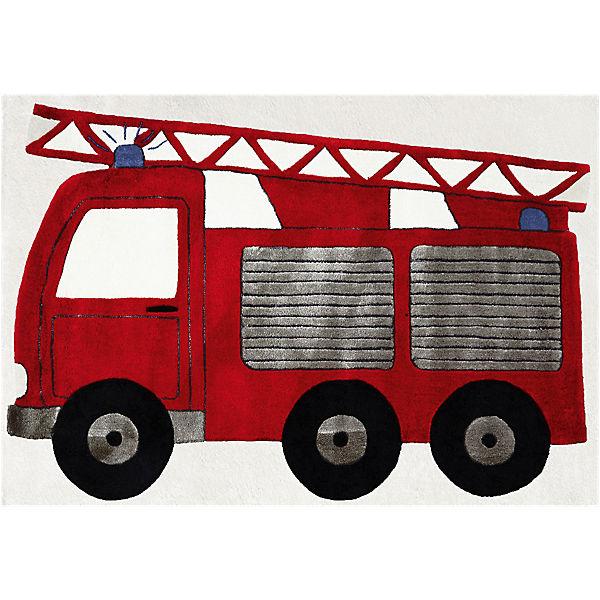 teppich  feuerwehrauto  120 x 180 cm  happy rugs mytoys Basic Fire Truck Clip Art Fire Truck Drawing