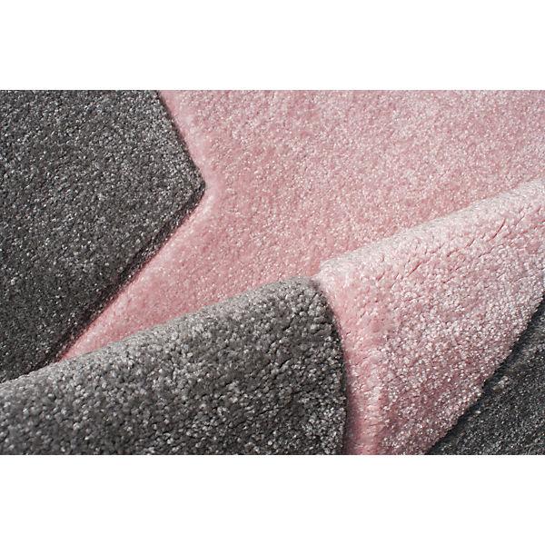 teppich star silbergrau rosa happy rugs mytoys. Black Bedroom Furniture Sets. Home Design Ideas