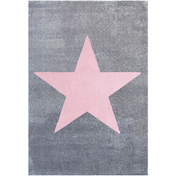 teppich star silbergrau rosa happy rugs mytoys. Black Bedroom Furniture Sets. Home Design Ideas