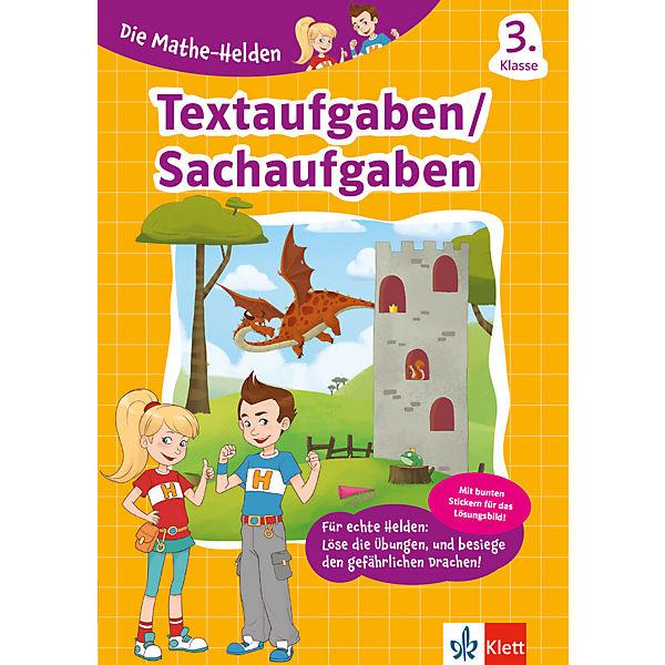Die Mathe-Helden - Textaufgaben 3. Klasse, Klett Verlag   myToys