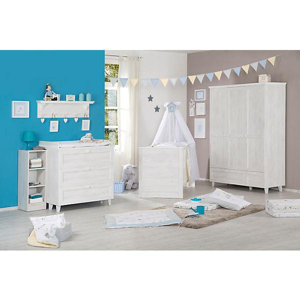 Komplett Kinderzimmer SARAH, 3-tlg. (Kinderbett, Wickelkommode und 3 ...