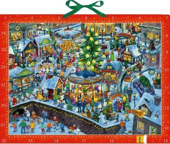 Fesselnd Adventskalender   Wimmeliger Weihnachtsmarkt Adventskalender ...