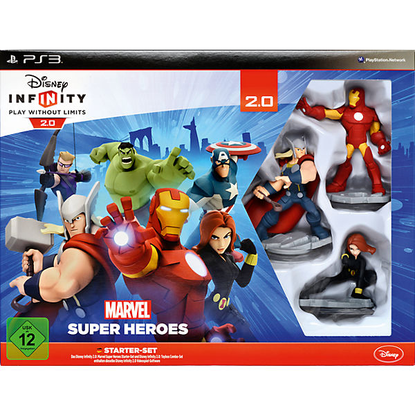 PS3 Disney Infinity 2.0 Marvel Super Heroes Starter Set