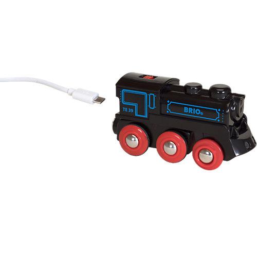 BRIO Schwarze Akku-Lok mit Mini-USB Sale Angebote Neu-Seeland