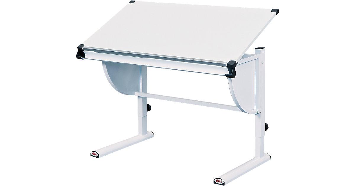 Schreibtisch, höhenverstellbar, weiß