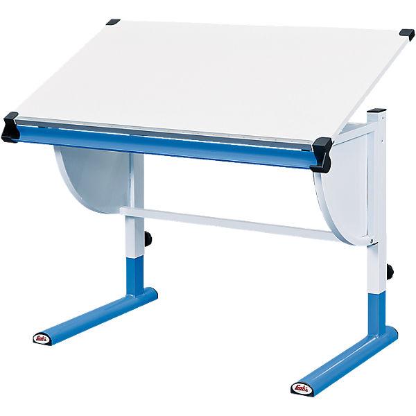 Schreibtisch Höhenverstellbar Weißblau Mytoys