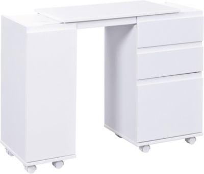 Schreibtisch, Laptop Office, weiss