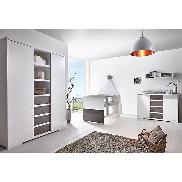 komplett kinderzimmer maxx fleetwood kombi kinderbett 70 x 140 cm umbauseiten breite. Black Bedroom Furniture Sets. Home Design Ideas
