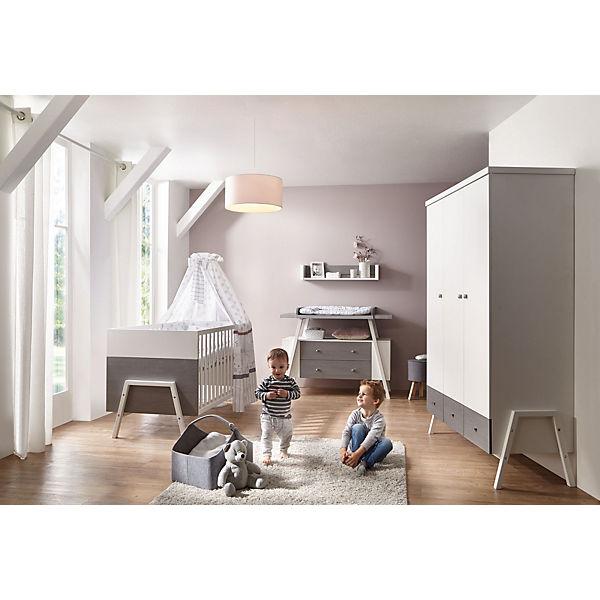 Komplett Kinderzimmer Holly Grey (Kombi-Kinderbett 70 x 140 cm ... | {Kinderzimmer massivholz 92}