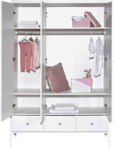 Sparset Holly White Kombi Kinderbett 70 x 140 cm Umbauseiten und