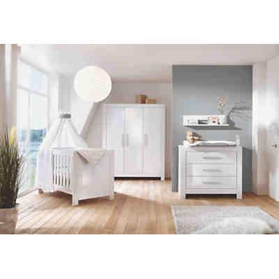 komplett kinderzimmer nordic hochglanz wei kombi kinderbett umbauseiten wickelkommode und. Black Bedroom Furniture Sets. Home Design Ideas