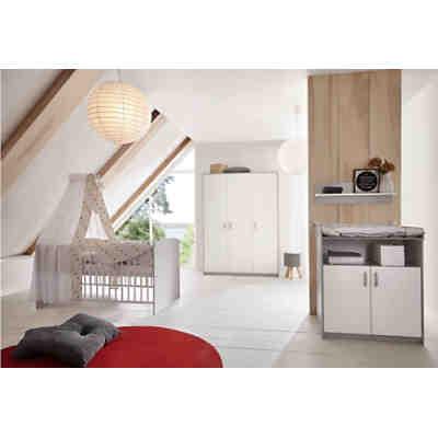 Komplett Kinderzimmer Classic Grey (Kombi-Kinderbett 70 x 140 cm ...