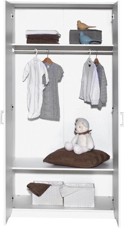 Kinderbett Classic White 60 x 120 cm Dekor weiß Schardt