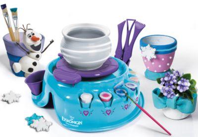 Clementoni Disney Frozen Kinder Töpferscheibe Ton Kreativ Bastel Set Eiskönigin