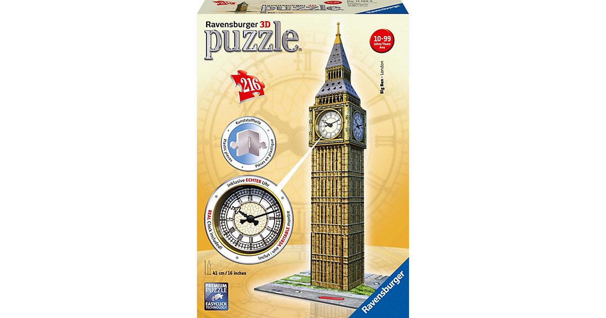 3D Puzzle-Bauwerke 216 Teile Big Ben mit Uhr