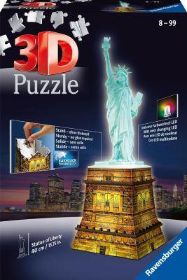 3D Puzzle-Bauwerke 108 Teile Freiheitsstatue mit Licht