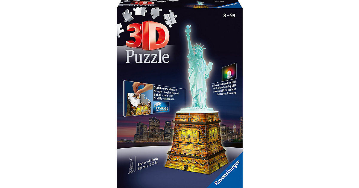 3D Puzzle-Bauwerke 108 Teile Freiheitsstatue mi...