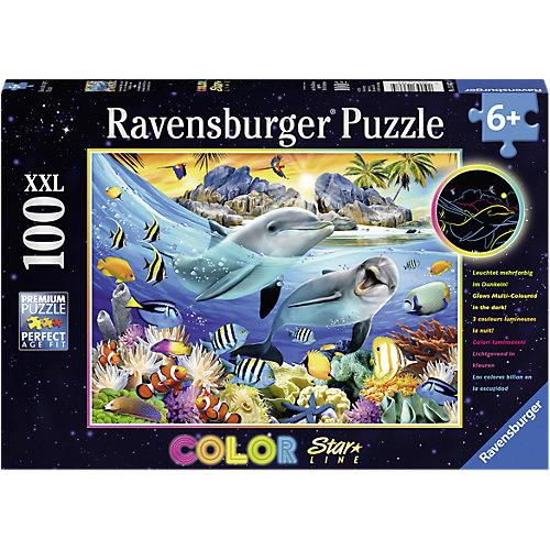 Ravensburger Color Star Line Puzzle 100 Teile Leuchtendes Korallenriff Sale Angebote Grabko