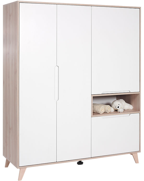 kleiderschrank mette 4 trg buche wei geuther mytoys. Black Bedroom Furniture Sets. Home Design Ideas