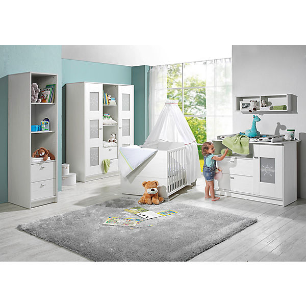 komplett kinderzimmer sol 3 tlg kinderbett wickelkommode und 2 t riger kleiderschrank. Black Bedroom Furniture Sets. Home Design Ideas